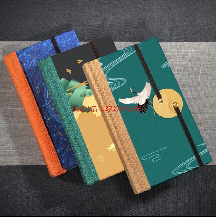 中国风丝绸手帐本套装 中国传统文化礼品 商务礼品文艺笔记本