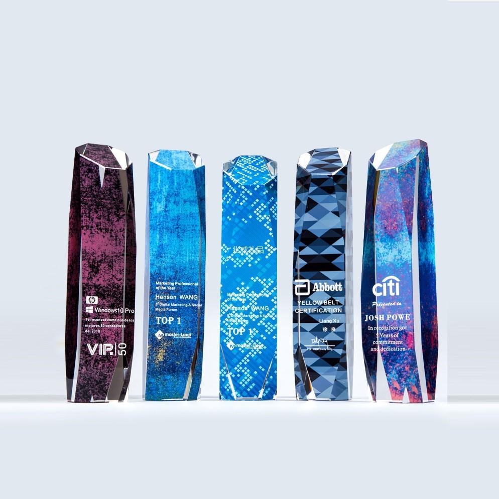 世纪魔方 奖杯水晶彩印钻石雕刻定制定做
